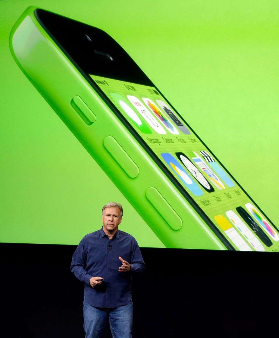 Phil Schiller, Apple's senior vice president of worldwide product marketing, speaks on stage during the introduction of the n