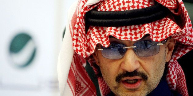 (FILES) -- File picture dated February 23, 2010 shows Saudi tycoon Prince AlWaleed bin Talal speaking during a press conferen