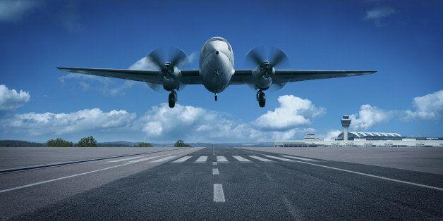 Taking off or Landing Airplane