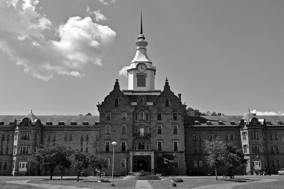 View of the main building of the Trans-Allegheny Lunatic Asylum in Weston, West Virginia on August 24, 2013. Later called the