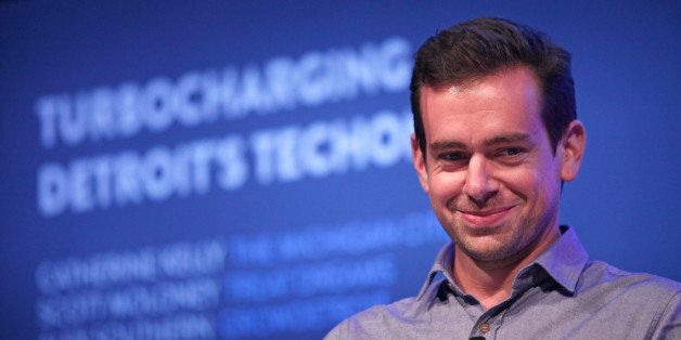 DETROIT, MI - Twitter Chairman and Square CEO Jack Dorsey moderates a panel discussion with Detroit entrepreneurs at Techonom