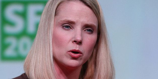 SAN FRANCISCO, CA - SEPTEMBER 11:  Yahoo! CEO Marissa Mayer speaks during the 2013 TechCrunch Disrupt conference on September