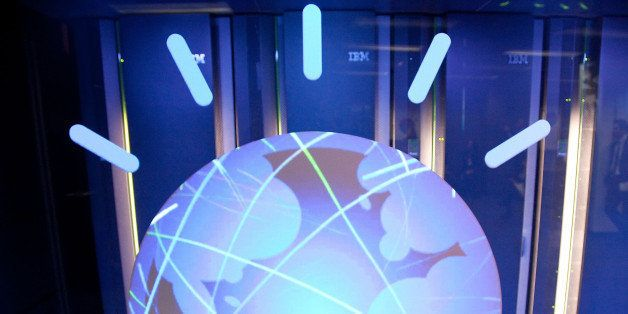 YORKTOWN HEIGHTS, NY - JANUARY 13:  A general view of IBM's 'Watson' computing system at a press conference to discuss the up