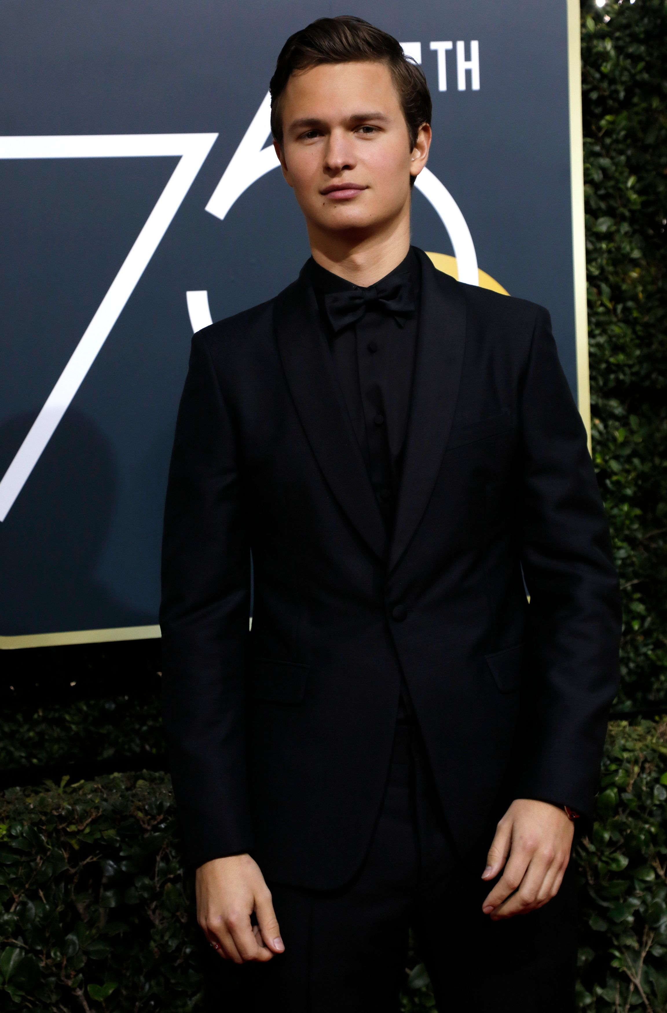 75th Golden Globe Awards – Arrivals – Beverly Hills, California, U.S., 07/01/2018 – Actor Ansel Elgort. REUTERS/Mario Anzuoni