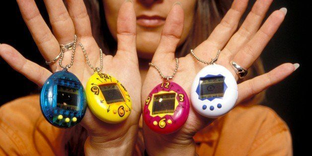 FRANCE - JUNE 02:  Illustration: Tamagotchis in France on June 02, 1997.  (Photo by Xavier ROSSI/Gamma-Rapho via Getty Images