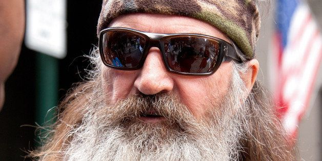 NEW YORK, NY - MAY 07: Phil Robertson visits 'Extra' in Times Square on May 7, 2013 in New York City. (Photo by D Dipasupil/Getty Images for Extra)