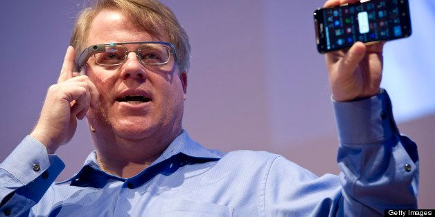 US blogger Robert Scoble presents the Google Glass on April 24, 2013 at the 'NEXT Berlin' conference in Berlin. 'NEXT Berlin'