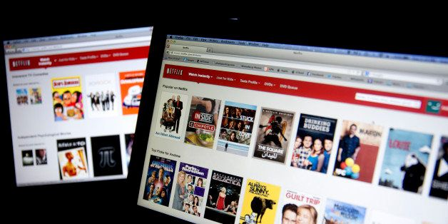 The Netflix Inc. website is displayed on laptop computers arranged for a photograph in Washington, D.C., U.S., on Tuesday, Ja