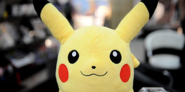 A Pokemon backpack from Nintendo at the Toy Fair 2011 on February 15, 2011 at the Javits Center in New York. AFP PHOTO/Stan H