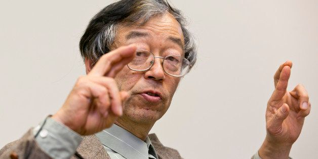 Dorian S. Nakamoto gestures during an interview with the Associated Press, Thursday, March 6, 2014 in Los Angeles. Nakamoto,