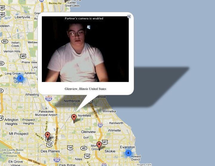 Chatroulette Map: Pictures From Chatroulette Geocoded Using IP ... on
