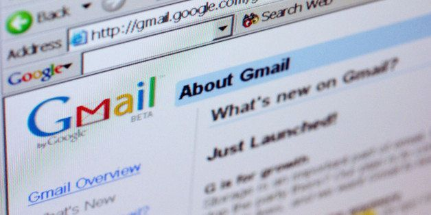 UNITED STATES - APRIL 01:  The Gmail logo is pictured on the top of a Gmail.com welcome page in New York Friday, April 1, 200