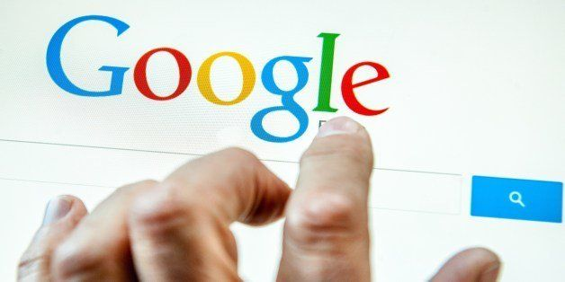 A person prepares to search the internet using the Google search engine, on May 14, 2014, in Lille.  In a surprise ruling on