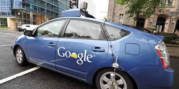 The Google self-driving car maneuvers through the streets of in Washington, DC May 14, 2012. The system on a modified Toyota