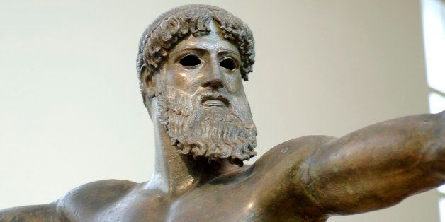 A statue of Zeus in the National Museum Athens. (Photo by Jeff Overs/BBC News & Current Affairs via Getty Images)