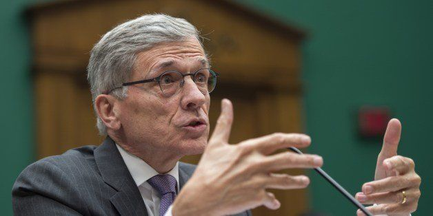 Federal Communications Commission (FCC) Chairman Tom Wheeler testifies before the Communications and Technology Subcommittee