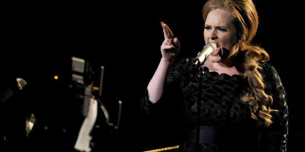 LOS ANGELES, CA - AUGUST 28:  Singer Adele performs onstage during the 2011 MTV Video Music Awards at Nokia Theatre L.A. LIVE