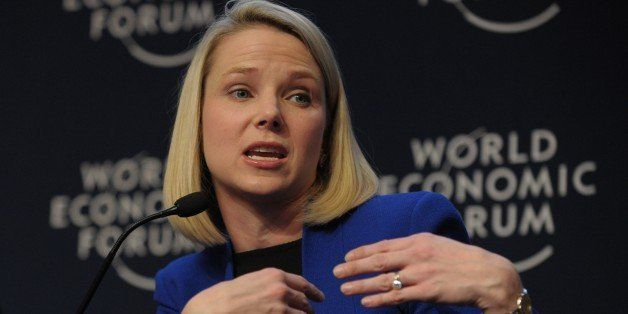 Yahoo CEO Marissa Mayer takes part in the session 'the new digital context' on the opening day of the World Economic Forum in