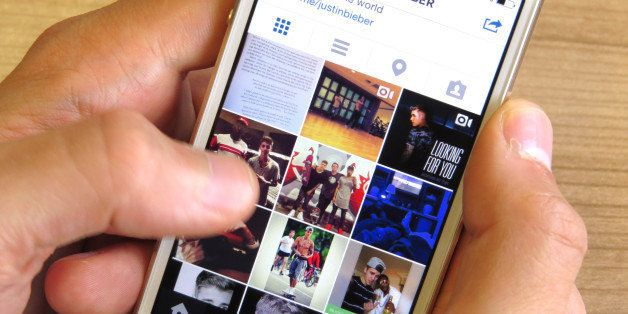 General view of Instagram on an iPhone 5S