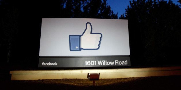MENLO PARK, CA - MAY 18: A 'like' sign stands at the entrance of Facebook headquarters May 18, 2012 in...