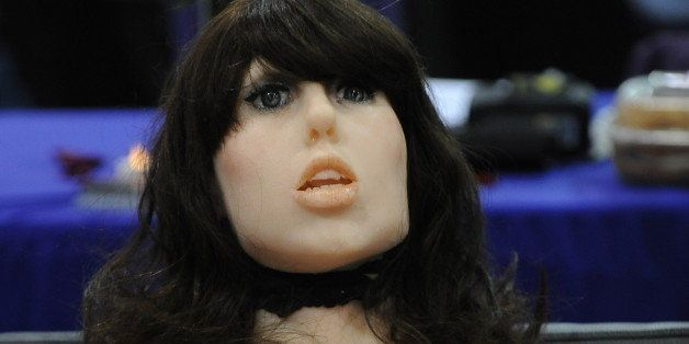The 'True Companion' sex robot, Roxxxy, is on display at the TrueCompanion.com booth at the AVN Adult Entertainment Expo in L