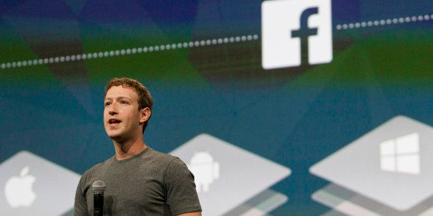 Mark Zuckerberg, chief executive officer of Facebook Inc., speaks during the Facebook F8 Developers Conference in San Francis
