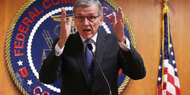 WASHINGTON, DC - MAY 15:  Federal Communications Commission (FCC) Chairman Tom Wheeler speaks during a news conference after