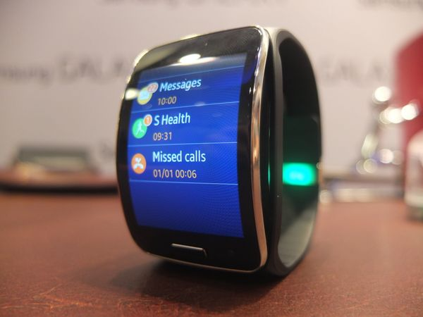 Samsung's new smartwatch is larger than the Gear 2, with a brilliant curved display.