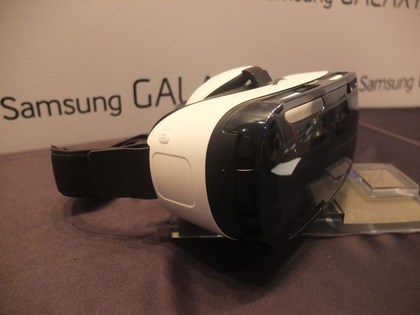 The Gear VR is a 3D virtual reality headset that uses a Note 4 for its screen(s).