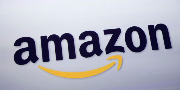 The logo for Amazon.com is displayed at a news conference, Wednesday, Sept. 28, 2011 in New York. (AP Photo/Mark Lennihan)