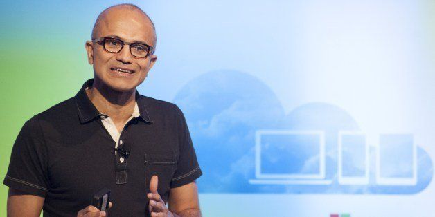 Satya Nadella, CEO of Microsoft, speaks at a media event in San Francisco, California on Thursday, March 27, 2014. Today, Mic