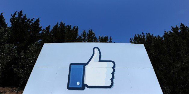 A thumbs up or 'Like' icon at the Facebook main campus in Menlo Park, California, May 15, 2012.  Facebook, the world's most p