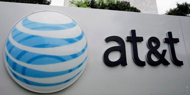 The AT&T logo is seen on one of it's buildings in San Antonio, Monday, April 23, 2007. Telecommunications heavyweight AT&