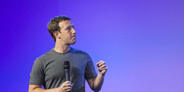 Mark Zuckerberg, chief executive officer of Facebook Inc., speaks during the Internet.org summit in New Delhi, India, on Thur