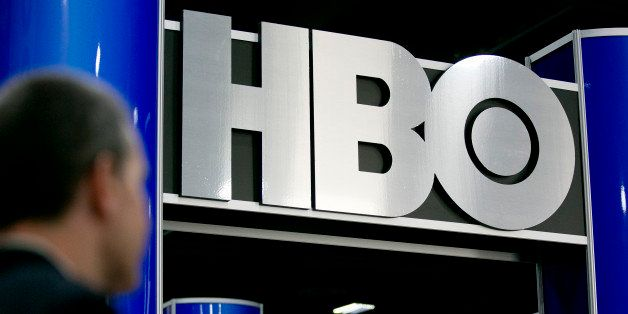 The logo of Home Box Office Inc. (HBO) is seen on the exhibit floor during the National Cable and Telecommunications Associat