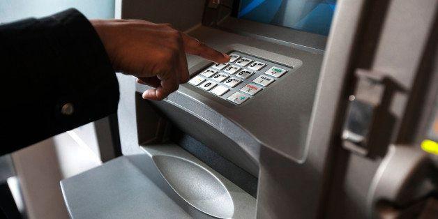 woman at atm, cash machine