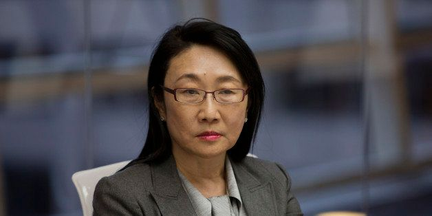 Wang Hsueh-Hung 'Cher', co-founder and chairperson of HTC Corp., listens during an interview in New York, U.S., on Wednesday,