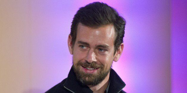 Jack Dorsey, CEO of Square, Chairman of Twitter and a founder of both ,holds an event in London on November 20, 2014, where h