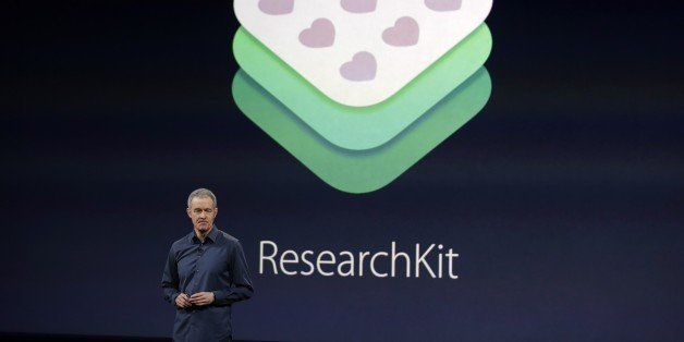 Apple Vice President of Operations, Jeff Williams, discusses ResearchKit during an Apple event on Monday, March 9, 2015, in S