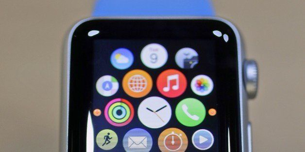 The new Apple Watch is on display in the demo room after an Apple event on Monday, March 9, 2015, in San Francisco. Pre-order