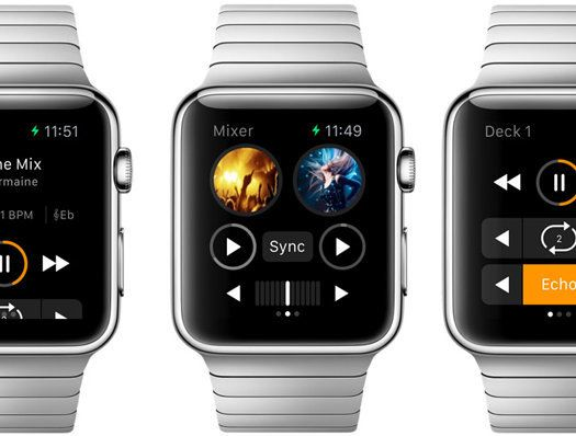 That's right, your favourite music mixing app is now compatible with Apple Watch. Naturally being able to do an entire set on