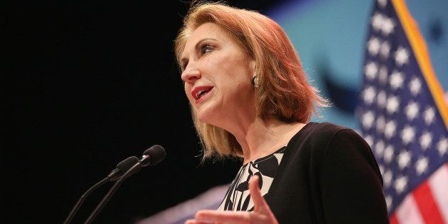 WAUKEE, IA - APRIL 25:  Former business executive Carly Fiorina speaks to guests gathered at the Point of Grace Church for th