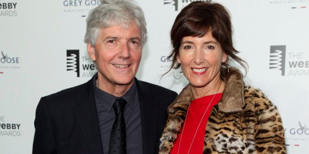 Louis Rossetto, left, and Jane Metcalfe, right, attend the 19th Annual Webby Awards at Cipriani Wall Street on Monday, May 18