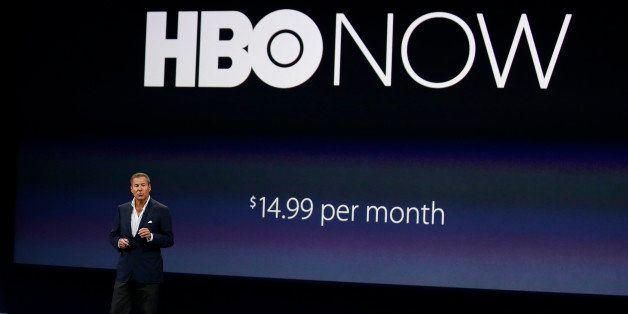 FILE - In this March 9, 2015 file photo, Richard Plepler, CEO of HBO, talks about HBO Now for Apple TV during an Apple event