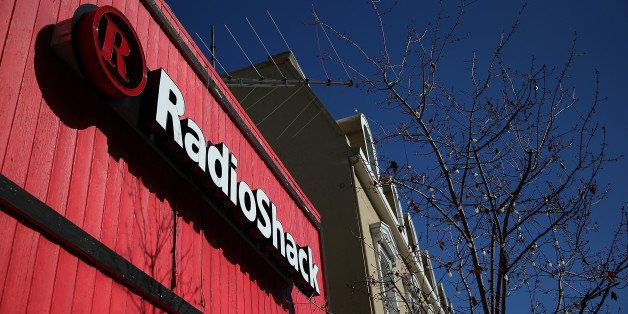 SAN RAFAEL, CA - FEBRUARY 04:  A sign is displayed on the exterior of a RadioShack store on February 4, 2014 in San Rafael, C
