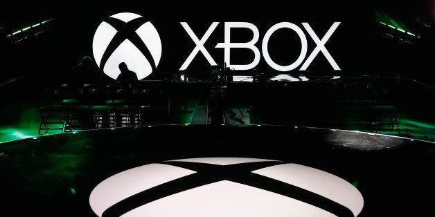 LOS ANGELES, CA - JUNE 15:  The Microsoft Xbox presentation is seen at the E3 press conference at the Galen Center on June 15