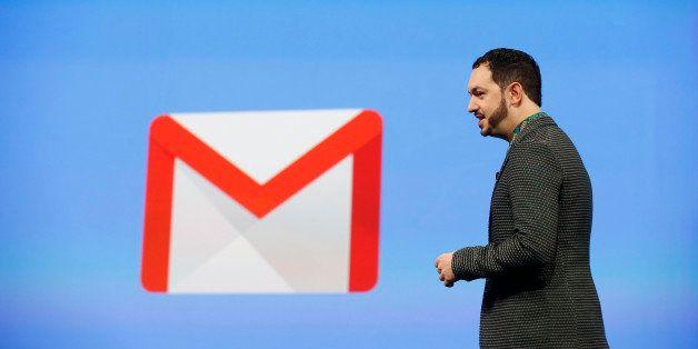 SAN FRANCISCO, CA - JUNE 25: Matias Durante, Vice President, Design at Google, speaks on stage during the Google I/O Develope