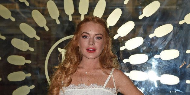 Photo by: KGC-143/STAR MAX/IPx 2015 7/1/15 Lindsay Lohan at the launch of the Magnum Pleasure Store in Covent Garden. (London
