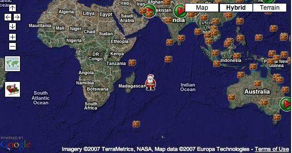 NORAD Santa Tracker 2007 | HuffPost on santa satan, santa posters, santa visit, baseball map tracker, santa schedule, santa home,