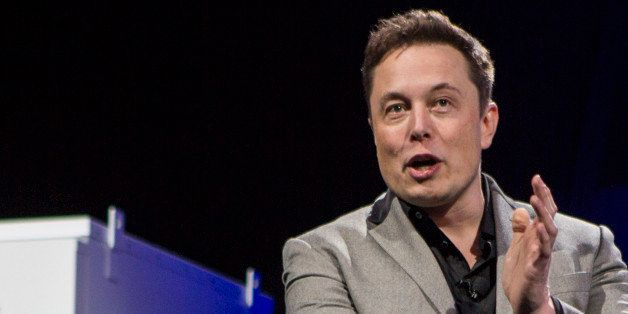 Elon Musk, CEO of Tesla Motors Inc., unveils the company's newest product, Powerpack in Hawthorne, Calif., Thursday, April. 3